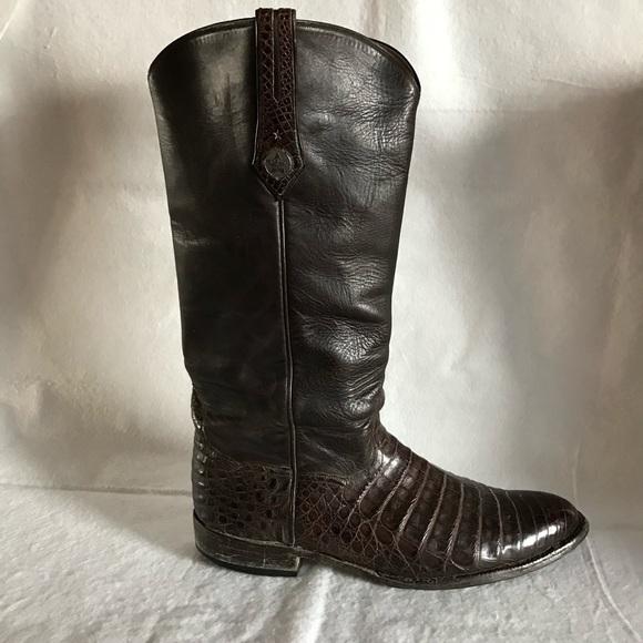 8b824c2b94a J.B. Hill Texas Mens Alligator Cowboy Boots 11.5D